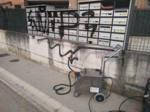 Limpieza ecólogica industrial con vapor